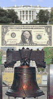 White House / Dollar / Liberty Bell